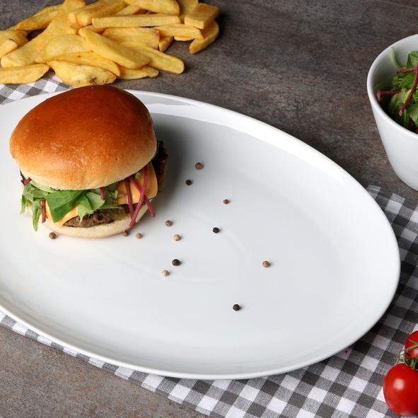 "Burgerplatte oval 35 x 25 cm ""Maxima Oslo"""