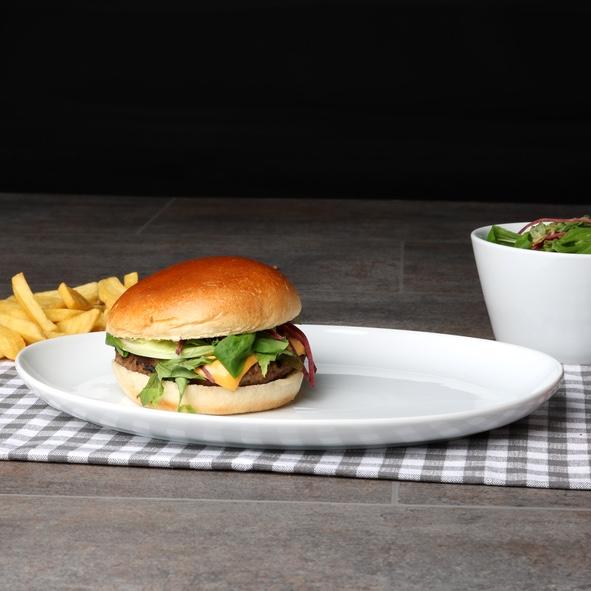 "Burgerplatte oval 30 x 21 cm ""Maxima Oslo"""