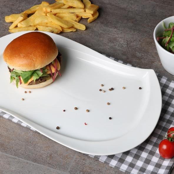 "Burgerplatte oval 39 x 23 cm ""Sigma"""
