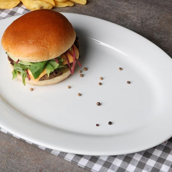 "Burgerplatte oval 35 x 25 cm ""Vital Level"""