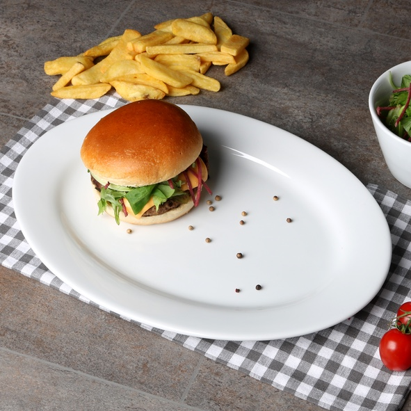 Burger plate 35 x 25 cm ''Vital Level''