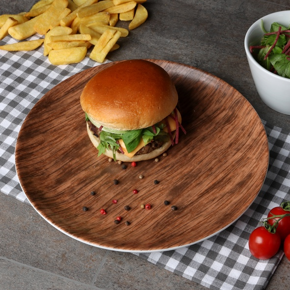 Burgerplate 28 cm ''Wood Design''