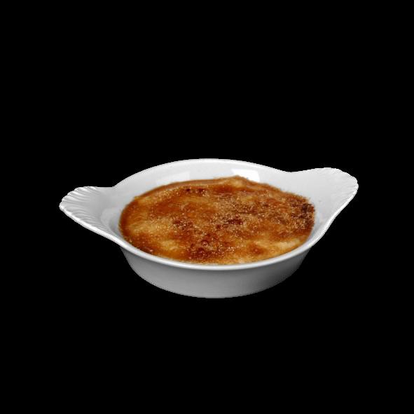 Crème Brûlée Schale 12 cm m. Flammenrelief