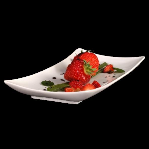Dessertplatte geschwungen 28 cm