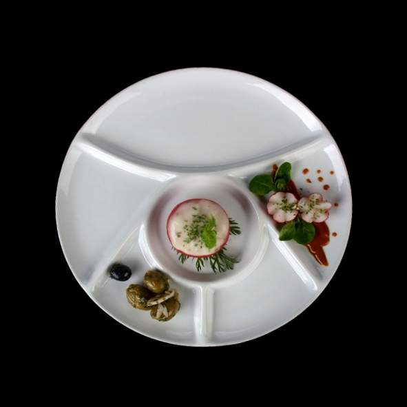 Fondue plate 23 cm