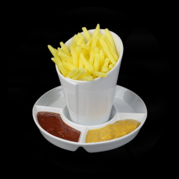 Pommes & Dip Bowl set  10 cm + saucer VA 186