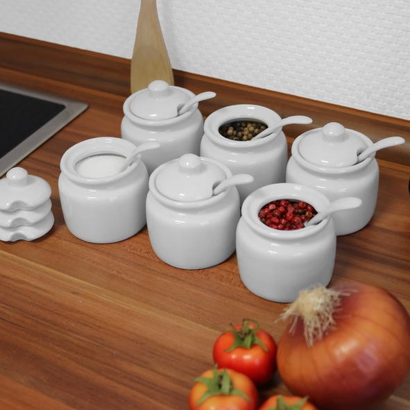 Spice pot 7 cm with spoon