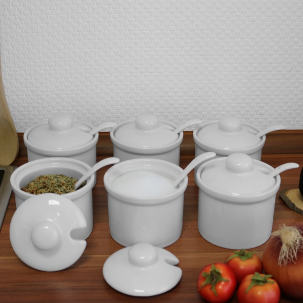 Spice pot 6,5 cm with spoon