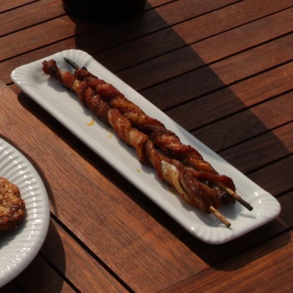 "Porzellan Wurstplatte 26 cm Pappoptik ""Snack Line"