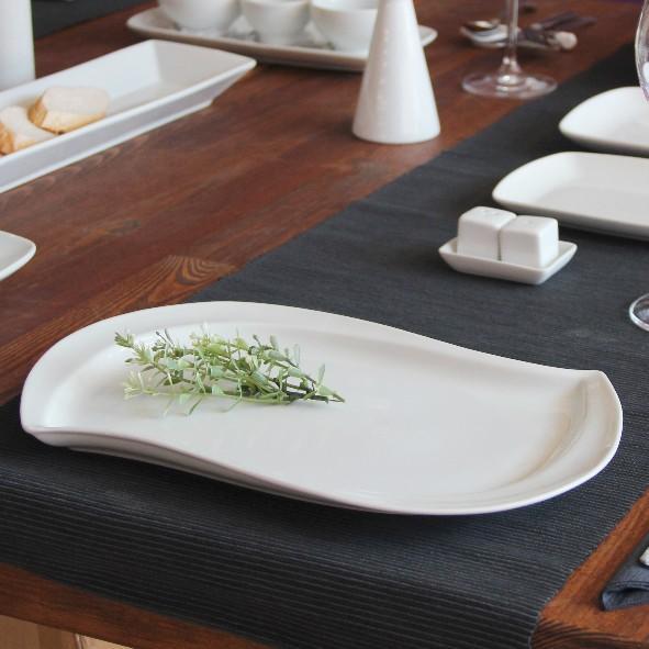 Platte S-Form 39 x 23 cm Form Sigma