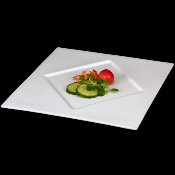 Square Plate ''Rondo'' with large rhombus mirror