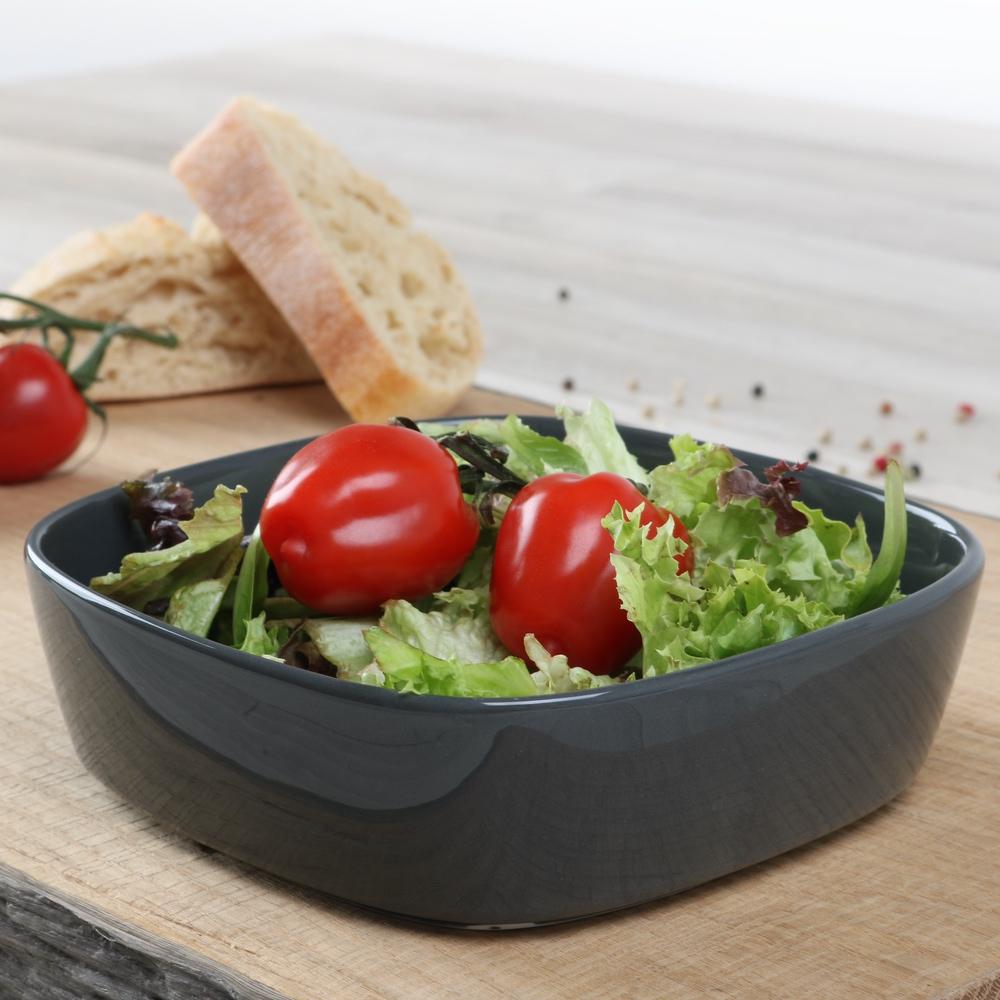 Salat-/ Beilagenschale 17 cm grau