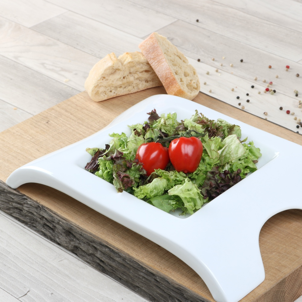 """Plato de ensalada 31 x 21 cm """"Design"""" (**)"""