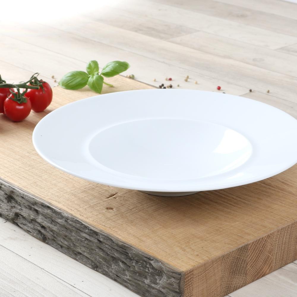 High Alumina Salatteller 25 cm mit breitem Rand