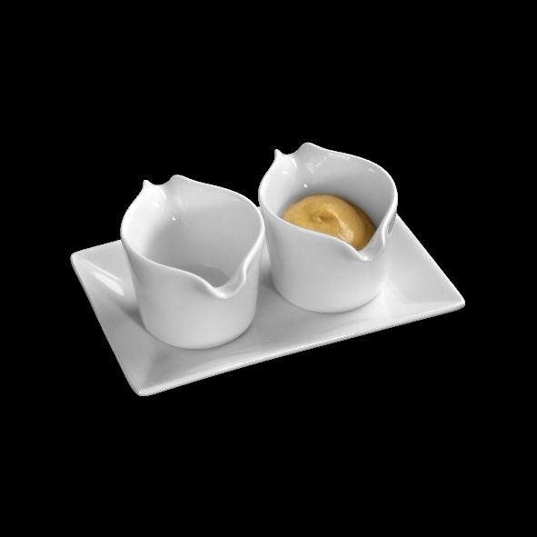 Minibecher Servierset 3-tlg. 13 x 8 cm (**)