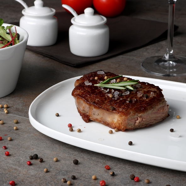 """Steakplatte 30 x 20 cm """"Skagen"""" weiß"""