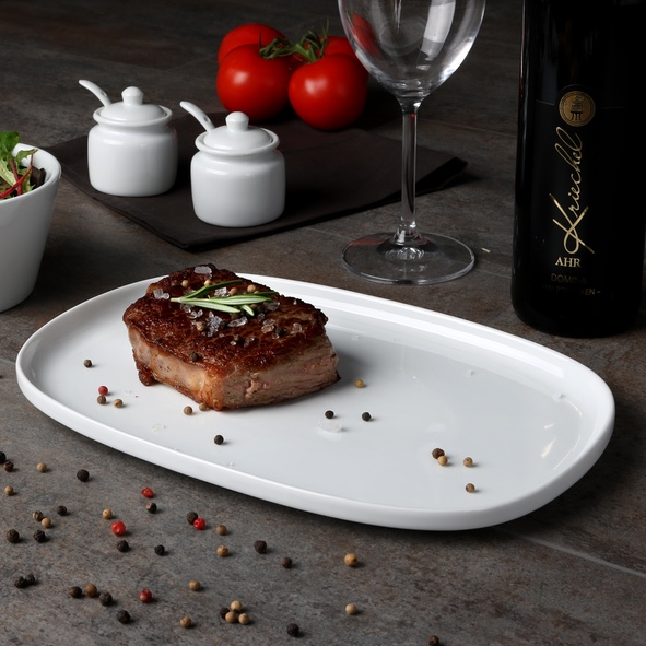 Steak plate 30 x 20 cm ''Skagen'' white