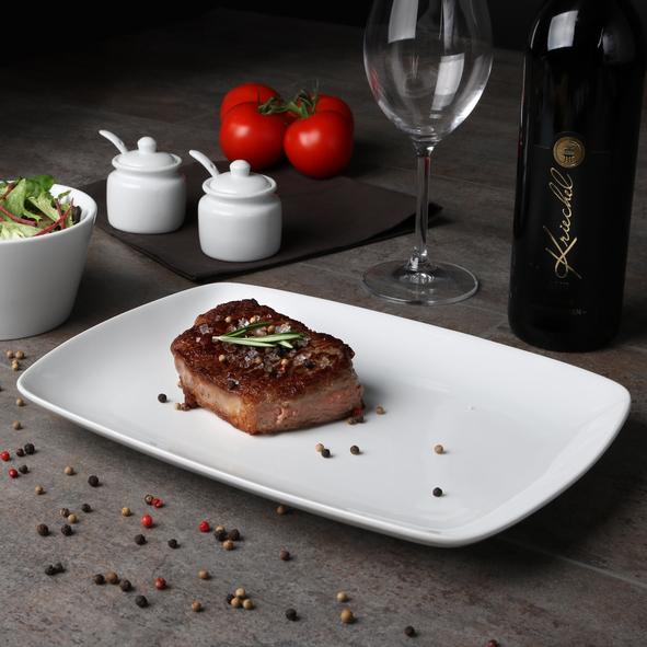 Steakplatte eckig 31 x 22 cm