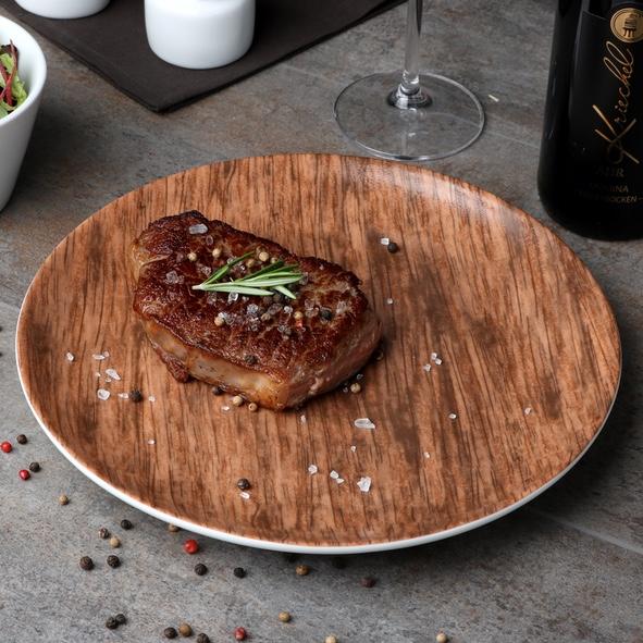 """Steakteller 28 cm """"Holz Optik"""""""