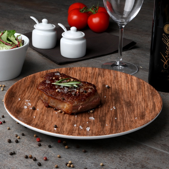 Steak plate 28 cm ''Wood Design''