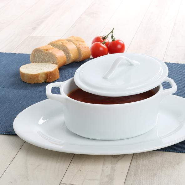 Soup serving set 0,65 l with lid & plate VLP 290