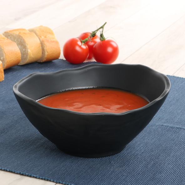 Suppenschale schwarz 0,50 l Schieferoptik