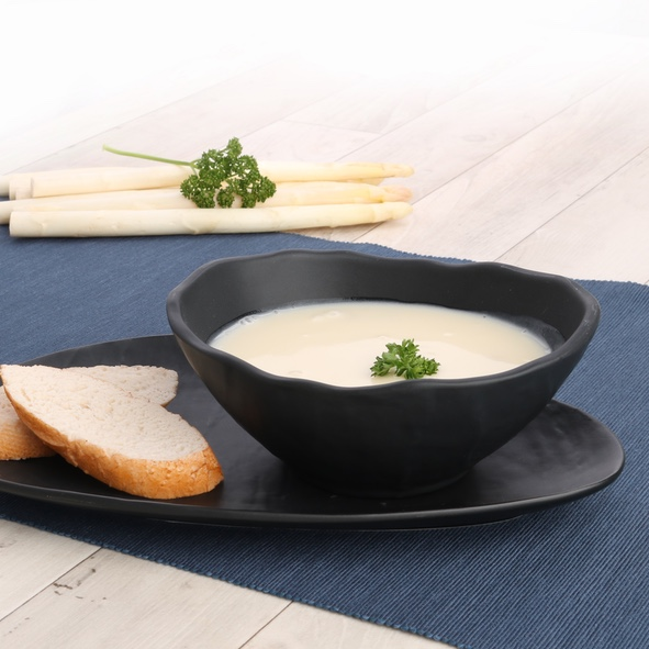 Bowl for soup in slate optic mat black 16 cm