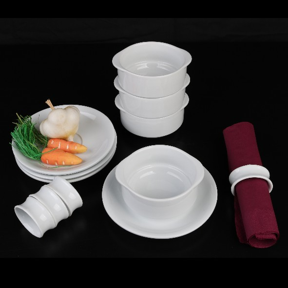 Soup-Set 12-pcs. with napkin rings