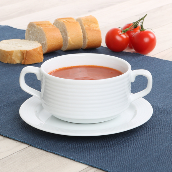 Soup cup ''Paris'' 0,30 l with saucer PAR 415