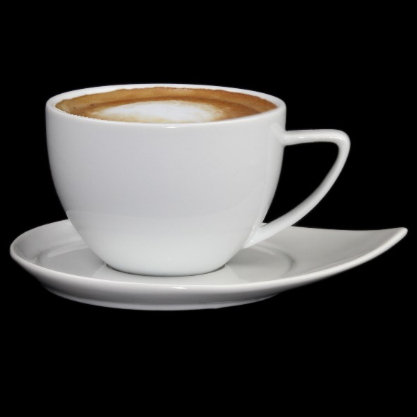 White coffee cup ''ConForm'' with Saucer FD