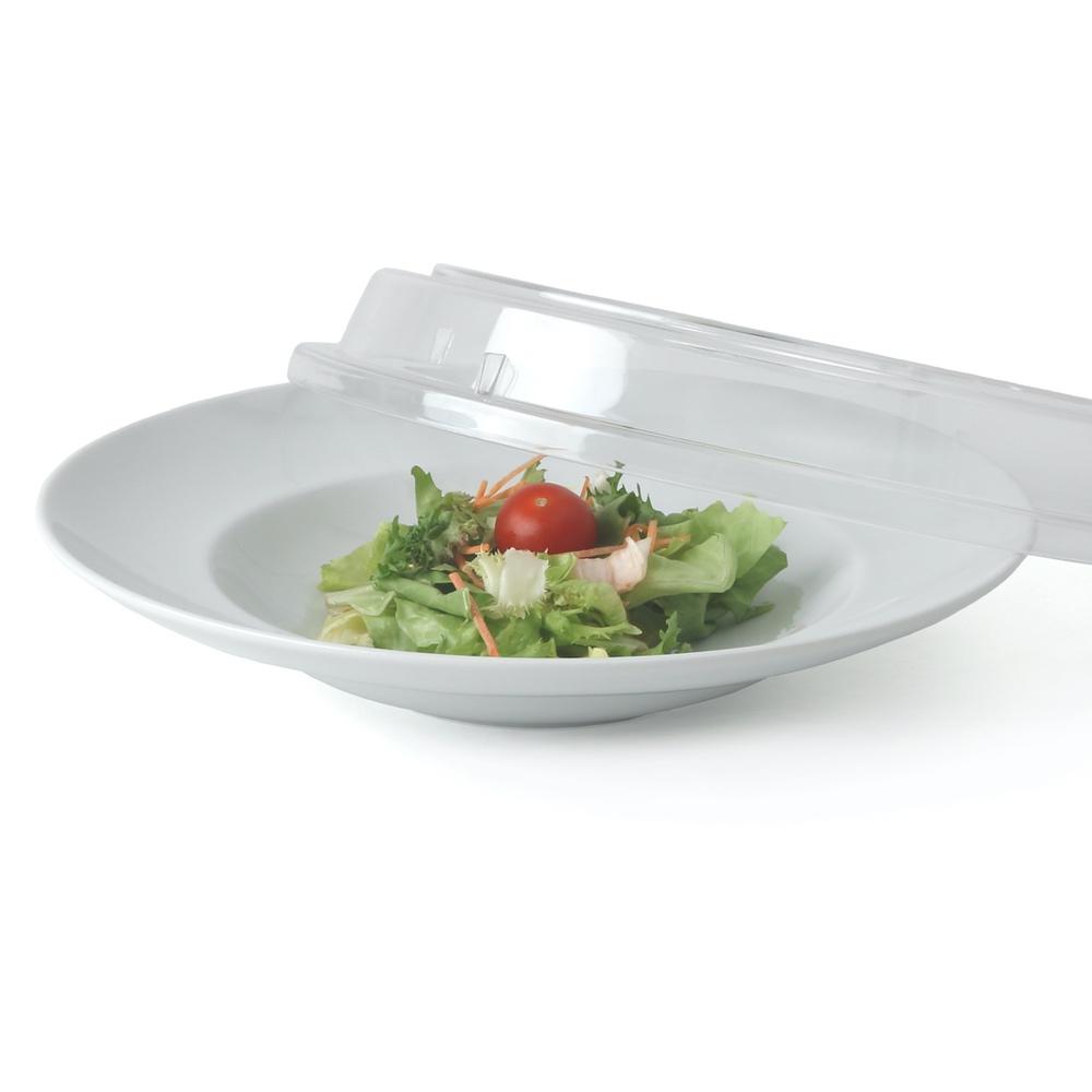 Porzellan Tellerset tief 26 cm mit Cloche glasklar