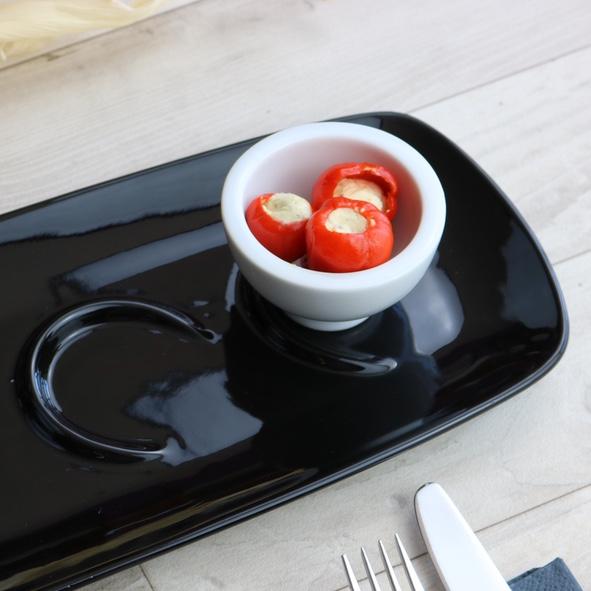 Appetizer Servierträger 38 x 15 cm schwarz 4er