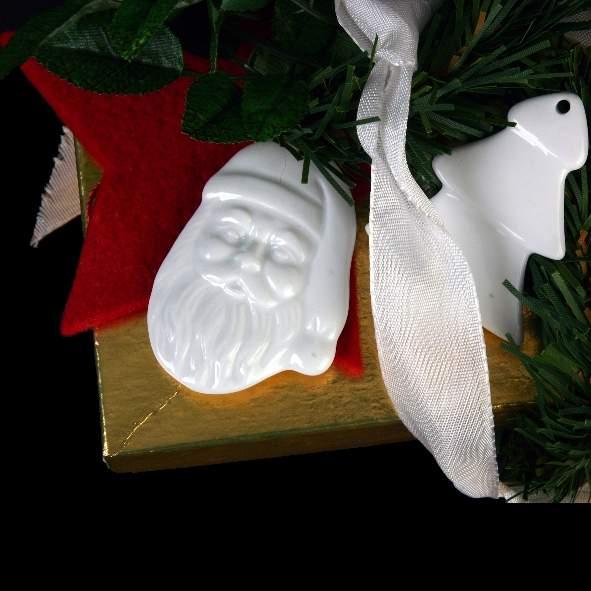 """Porzellananhänger """"Weihnachtsmann"""" (**)"""