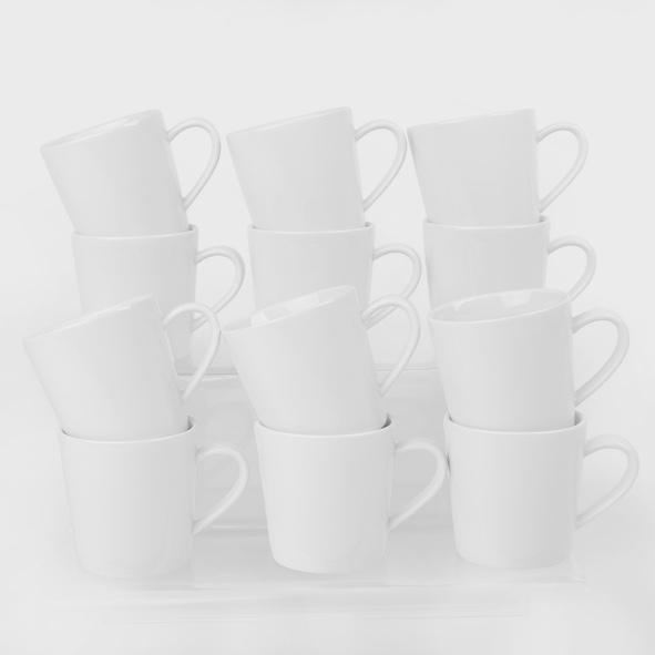 12er Set Kaffeebecher 0,24 l
