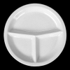 Round segment plate, wide rim