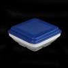 Schale quadratisch 14,5 cm m. Deckel blau