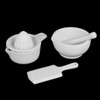 Küchenhelfer-Set 3-tlg. Mörser, Presse, Reibe