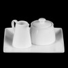 Milch- & Zucker-Set 3-tlg. quadr. 19 x 19 cm (**)