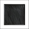 Decoration Plate in slate look black 26 x 26 cm