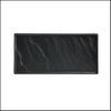 Porzellanplatte Schieferdesign matt schwarz 26 x 12 cm