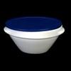 Schale rund 0,50 l stapelbar m. Deckel blau