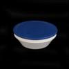 Schale rund 0,45 l stapelbar m. Deckel blau