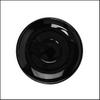 Untertasse 14 cm flache Form schwarz, Spiegel 4,8 cm (**)