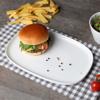 """Burgerplatte eckig 30 x 20 cm """"Skagen"""" weiß"""