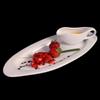 Dessertteller oval 40 x 16 cm Gourmetset 2-tlg.