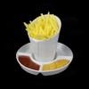 Frittentüte 10 cm mit Saucenkabinet 5er