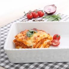 Lasagne servieren