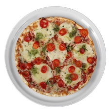 Professionelles servieren von Pizza und Pizzen