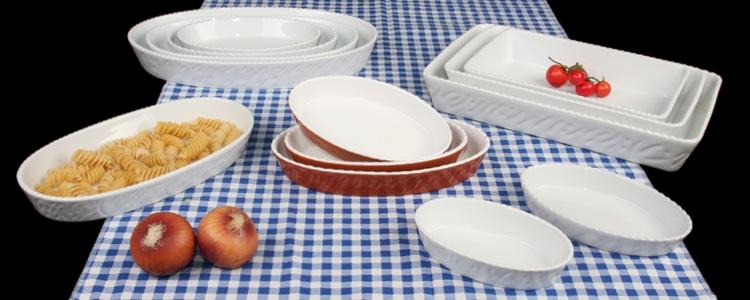 Feuerfeste ovale Auflaufformen mit Relief - Qualität günstig kaufen!
