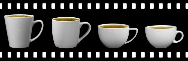 Porcelain bouillon cups.
